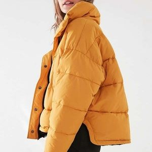 Urban Outfitters Yellow Puffer Jacket